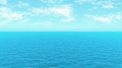 loopable FullHd 3d sea / heavenly / minimalistic waves and cloud movement - stock footage