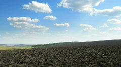 plowed field. time lapse HD - stock footage