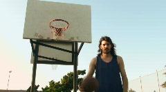 Basketball dribbling and shoot V2 - HD  Stock Footage