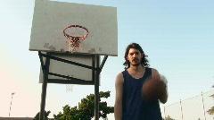 Basketball dribbling and shoot V1 - HD  Stock Footage