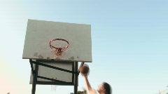 Basketball hoop series angle V3 - HD  Stock Footage