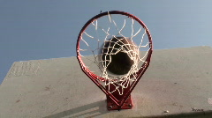 Basketball hoop series angle V5 - HD  Stock Footage