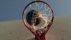 Basketball hoop series angle V6 - HD  Stock Footage