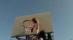 Basketball hoop series angle V11 - HD  Stock Footage