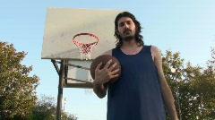 Basketball player pose and shoot V2 - HD  Stock Footage