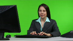 Female supervisor typing on computer Stock Footage