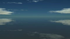 3d ocean reflection - stock footage