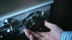 Safe combination lock opening Stock Footage