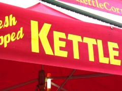 FAIR KETTLE CORN SIGN CONCESSION STAND Stock Footage