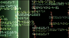 data monitor numbers - stock footage