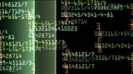 Data monitor numbers Stock Footage