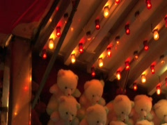 FAIR TOYS TEDDY BEARS FLASHING LIGHTS Stock Footage