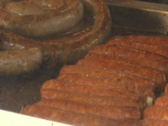 FAIR SAUSAGE CONCESSION STAND Stock Footage