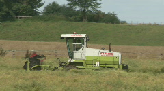 Rape Seed being cut 5 Stock Footage