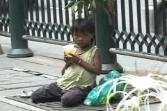 Girl Begging - stock footage