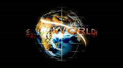 View of Earth from Space Stock Footage
