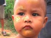 Face of a Sad Asian Boy Stock Footage