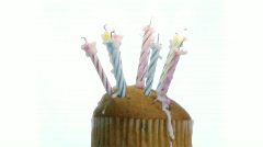 Birthday Candles on a cake-2 Stock Footage