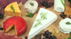 Cheese Platter Stock Footage
