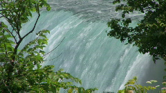 Close up of the Canadian Horseshoe Niagara Falls in summer Stock Footage