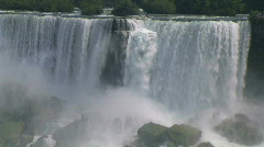 American Niagara Falls close-up. - stock footage