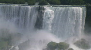 Stock Video Footage of American Niagara Falls close-up.