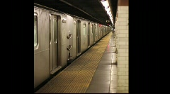 New York Subway Train Stock Footage