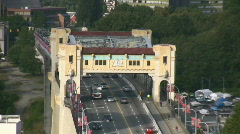 Burrard Bridge Zoom Out Stock Footage