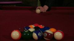POOL BALL BREAK Stock Footage