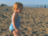 Toddler at Beach 1 Stock Footage