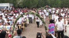Poerto Princesa mangrove planter's party 2 Stock Footage