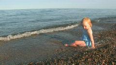 Beach Baby Stock Footage