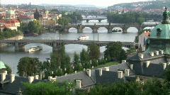 Prague summer scenery Stock Footage