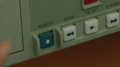 Eject button Stock Footage