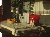 Living room at Christmas (vintage 8 mm amateur film) Stock Footage
