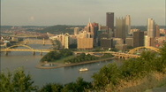Stock Video Footage of Pittsburgh Skyline 179