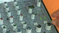 Sound control Stock Footage