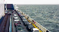 Cars On The Ferry 1 Footage