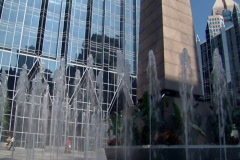 PPG Place Water Fountain 195 Stock Footage
