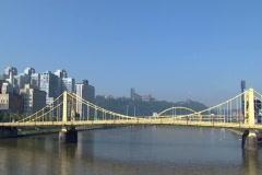 Pittsburgh Skyline 196 Stock Footage
