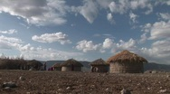 Masai village Stock Footage