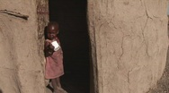 Stock Video Footage of masai child in doorstep