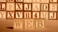 Wooden building blocks WEB sepia - HD  Stock Footage