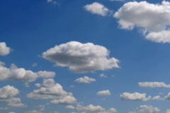 Time lapse clouds over blue sky 06 NTSC - stock footage