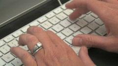 Keyboard Typing (HD) - stock footage