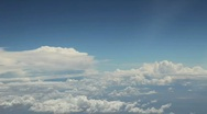 Aerial View of Clouds from Airplane Stock Footage