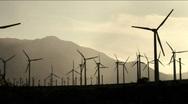 Wind Turbines silhouette Stock Footage