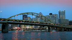 Pittsburgh Skyline 829 - Dusk Stock Footage