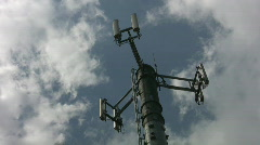 Cellphone tower. Light timelapse. - stock footage
