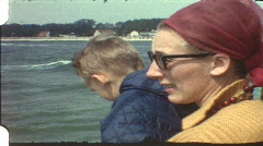 At the beach (vintage 8 mm amateur film) Stock Footage